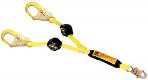 3M™ DBI-SALA® Retrax™ Retractable Lanyard, Twin Aluminum Rebar Hooks - 1241482image