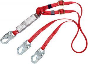 3M PROTECTA® 1342250 - PRO™ Pack Adjustable 100% Tie-Off Shock Absorbing Lanyard, 6 ft.image