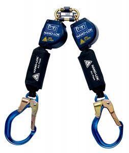 3M DBI-SALA® 3101540 - Nano-Lok™ Arc Flash Twin-Leg Quick Connect Self Retracting Lifeline - Web, 8 ft.image