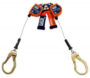 3M DBI-SALA® 3500227 - Nano-Lok™ edge Twin-Leg Quick Connect Self Retracting Lifeline - Cable, 8 ft.image