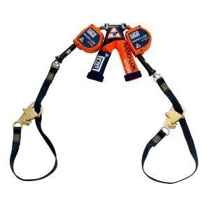 3M DBI-SALA® 3500228 - Nano-Lok™ edge Twin-Leg Tie-Back Quick Connect Self Retracting Lifeline - Cable, 9 ft.image