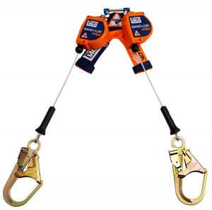 3M DBI-SALA® 3500246 - Nano-Lok™ edge Twin-Leg Quick Connect Self Retracting Lifeline, Cable, 8 ft.image