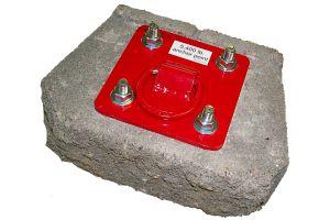 3M PROTECTA® AJ720A - PRO™ Concrete D-ring Anchorage Plateimage
